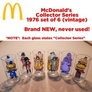 NEW, never used VINTAGE McDonald's glasses (6)